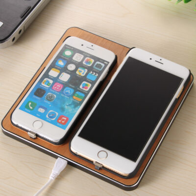 Universal Wooden 2 Phones Wireless Charging Pad